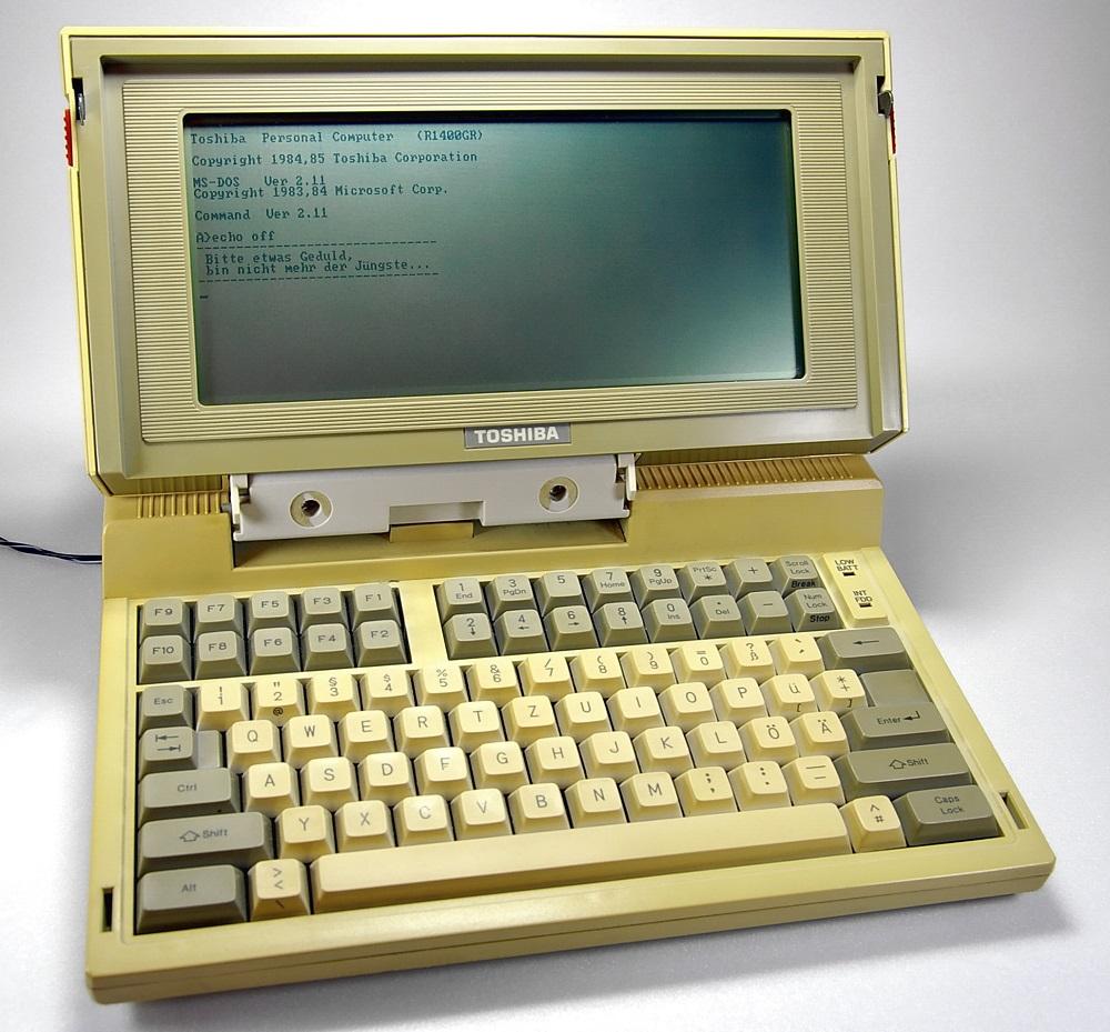 Toshiba T1100 In Betrieb