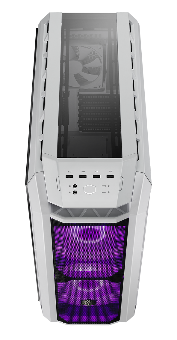 H500P MESH WHITE front and top light